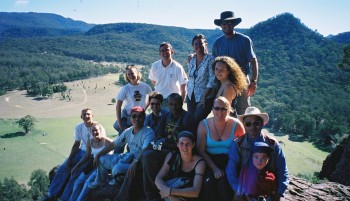 group photo in the blue mountains