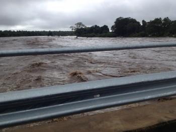 Flooded river in Kruger